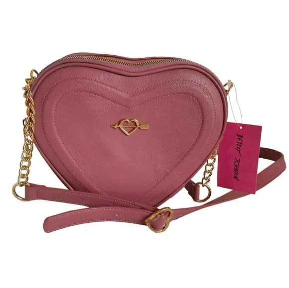 Betsey Johnson Handbags - Betsey Johnson Heart Crossbody Bag